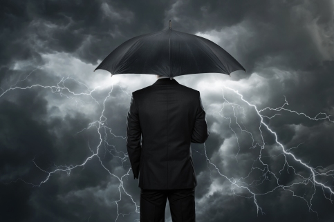 Man Storm Umbrella